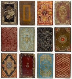 antique book covers wow