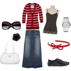 Red and Black(Modest Outfit)  ~Me at school is a perfect definition of this outfit