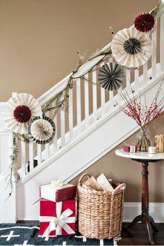 DIY Christmas Pinwheels made of gift wrap