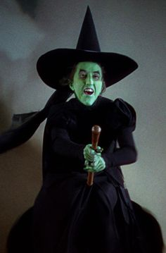 "2/10/2014 12:52pm *WICKED WITCH of THE WEST~ The Wizard of Oz, 1939....""I'll get you my pretty and your little dog too"" !"
