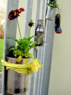 Fab ideas for eco gardening: recycled planters for a School Gardening Club