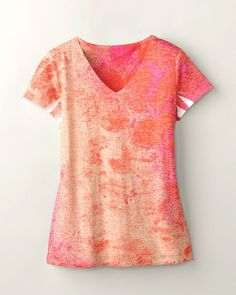 Ombré burnout tee - Coldwater Creek
