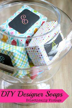 soaps, project, craft, wrap soap, diy design