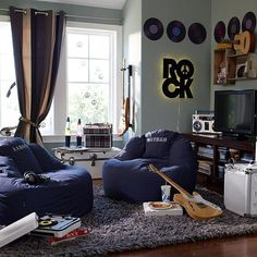 Classic Rock Themed Bedroom Home Decoration Live