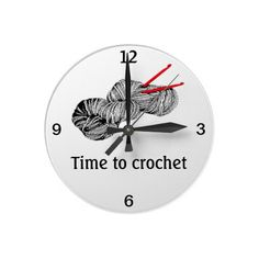 Time to crochet round wall clock