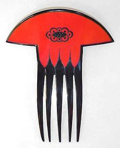 Auguste Bonaz Art Deco comb