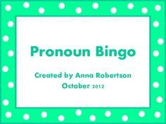 Pronoun Practice Bingo
