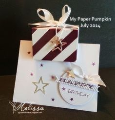 Stampin' Up! July 2014 My Paper Pumpkin by Melissa Davies @ rubberfunatics - INSTRUCTIONS INCLUDED!