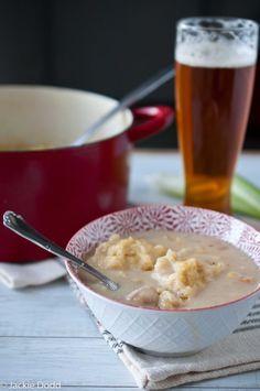 Beer Braised Chicken W-Corn Meal Dumplings