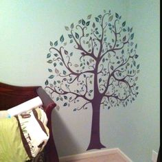 The tree in my nephew's room! He's got a creative mommy :)
