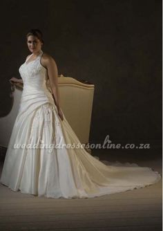 alin halter, bridal dress, wedding dressses, idea, plus size, weddings, dresses, train, size halter