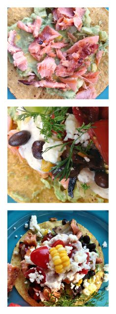 Black Bean Salmon Tostadas | reluctantentertainer.com