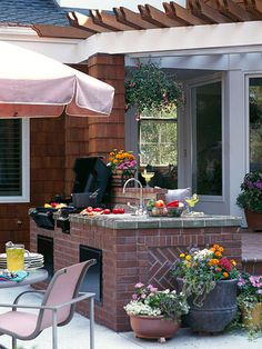 outdoor living, outdoor kitchens, patio, outdoor cooking, room decorating ideas, outside kitchens, kitchen sinks, kitchen ideas, kitchen designs