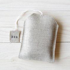 Tea bag shaped tea bag holder