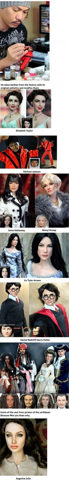 Repainted Barbie dolls... who knew they could be so life-like??