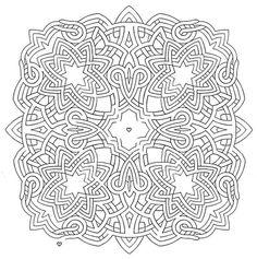 Mandala 582, Mandala Mazes Coloring Book, Dover Publications