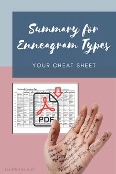 Your Cheat Sheet: Summary for Enneagram Types {Enneagram Series #28}