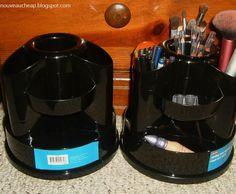 Nouveau Cheap: The Staples Rotating Desk Organizer: storage solution for brushes, pencils, etc.