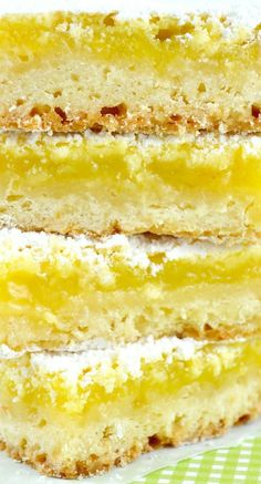 Luscious Lemon Bars with just the right combo of sweet and tart!