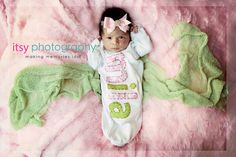 Hand Appliqued Personalized Infant Baby Girl Gown Pink by bswanky, $28.00