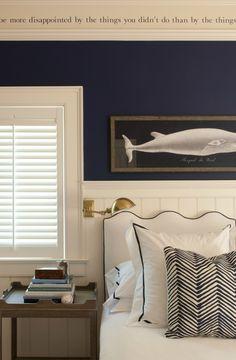 nautical room + wave headboard