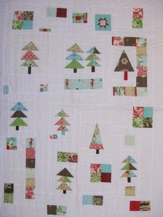 scrappy forest quilt