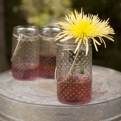 Use our full array of retro Hobnail jars to create a landscape of flowers for your table! The variable heights add visual interest and fantastic appeal.