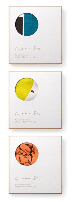 Lucienne Day tea towel packaging