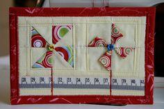 Pinwheel Fabric Postcard | Flickr - Photo Sharing!