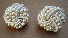pearl cluster earrings. these are so similar to the size, shape and style meemaw T. wore. cluster earring, pearl cluster