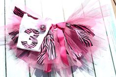 BIRTHDAY PARTY SET Animal Print Fabric Scrap Tutu