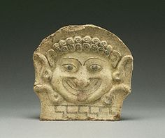 Gorgon Head Antefix, Greek, 500-480 B.C. Gift of Leon Levy