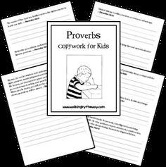 Proverbs for Kids ~ Copywork Pages
