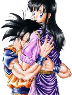 Goku and Chi Chi - This is what I want. I want a clingy warrior who can't live without me. Amen