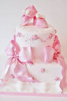 LATES BABY SHOWER CAKES | Baby-Shower-Cakes-New-Jersey-Baby-Booties-Custom-Cakes.jpg