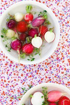 radishes, foods, la tartin, healthy snacks, color