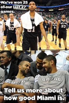 Spurs   . . . . The Gentlemen Team . . . they have an AWESOME Coach & they ALL must have a good Mom ! ! !