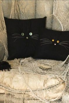 Day 3: Black Cat Pillows