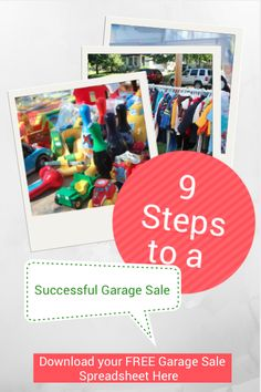 Here are 9 Garage Sale Tips on how to hold a successful garage sale!