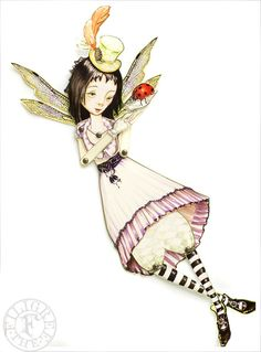 Fairy Paper Doll   Articulated Paper Doll handmade by theFiligree, $10.00