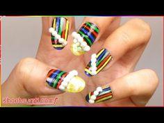 Snow Candy Nail Art Design By KhoobSurati.com