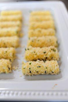 homemade mozzarella sticks - also for when dad visits!