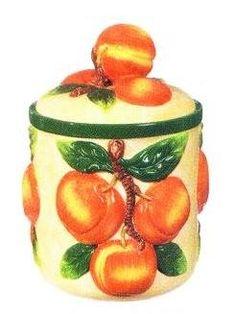 peaches cookie jar