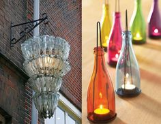 glass bottle upcycles