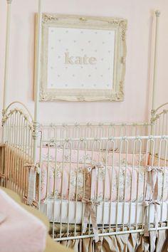 Name over crib in frame