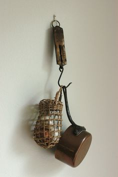 Vintage Brass Hanging Scale
