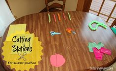 Scissor Cutting Stations - Pinned by @PediaStaff – Please Visit  ht.ly/63sNt for all our pediatric therapy pins