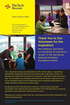 A special thanks to our volunteers!