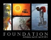 "Robert V. Reid ""Foundation"" Group Show, Expressions Gallery, Harlem, NY. April 25-27, 2014."