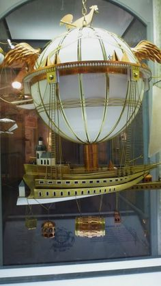 From the Smithsonian Air & Space museum in DC. Doesn't it look like the globe should light up? :)